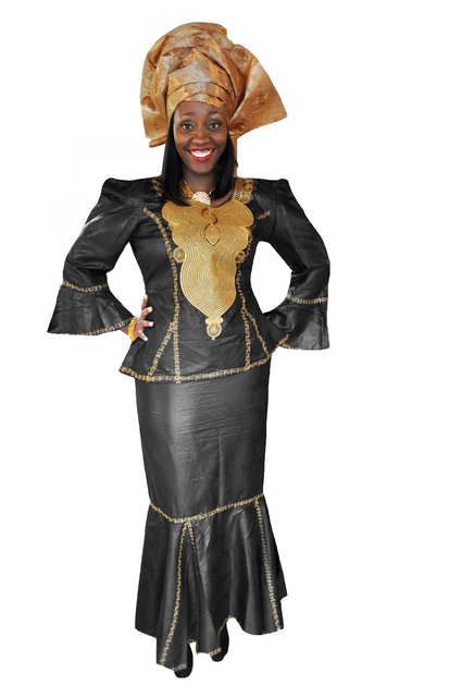 african clothing black gold