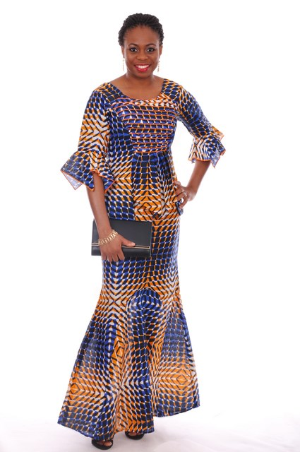 d8e9eafd0f2807 Blue and Orange African Print Top and Skirt-dp3544 - Dp3544 ...