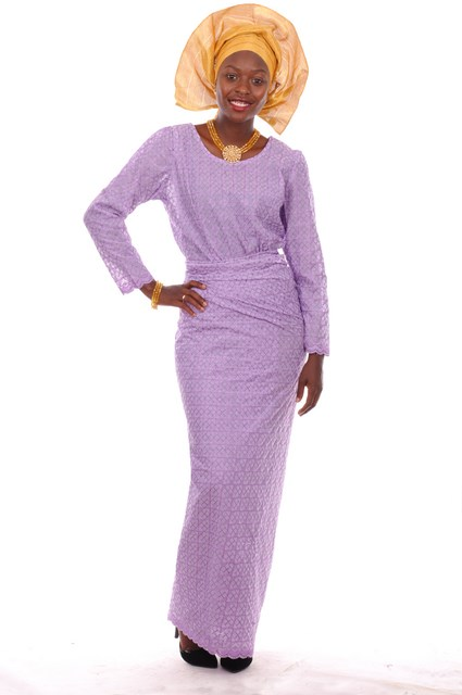 4854b980df7b9e Lilac-purple African Lace Blouse and Wrap-skirt - Dp3747 - Lace ...