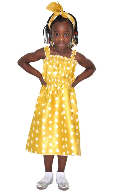 027d0c23c 2pc Mustard African Print Smocked Dress for Girls - Dpc463 - African ...
