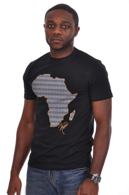 t shirt with africa map