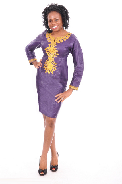 Royal purple dress with detalied gold embroidery dp