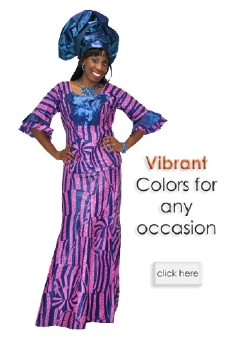 African Clothing Designers In Atlanta Rose Pink and blue African